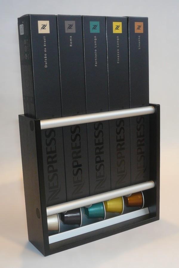 4 nespresso kapselhalter capsule dispenser. Black Bedroom Furniture Sets. Home Design Ideas